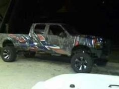 Camo & rebel flag truck