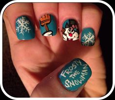 Frosty The Snowman Nails.