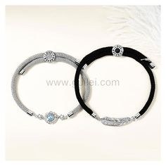 Matching Magnetic Bracelets Gift Set for Him and Her by Gullei.com Personalized Couples Gifts   Matching Necklaces & Bracelets   Custom Promise Rings