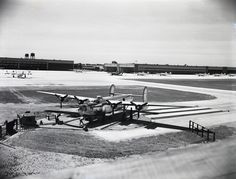 """Bomber compasses were tested on a """"compass rose"""" after being built at Willow Run, in the background. Ypsilanti Michigan, Epic Story, Compass Rose, American War, National Museum, Great Britain, Documentary, Airplanes, Ww2"""