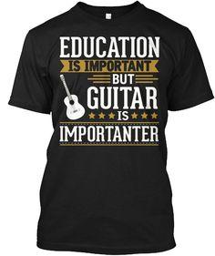 Guitar Tshirt Guitars Is Importanter Funny Tshirt For Men Mens Printed T Shirts, Branded T Shirts, Custom Shirts, Boyfriend Tee, Short Sleeve Tee, Funny Tshirts, Guitar, Trending Outfits, Sweatshirts
