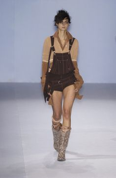 Jean Paul Gaultier at Paris Fashion Week Spring 2004 - Runway Photos Red Carpet Dresses, Jean Paul Gaultier, Overall Shorts, Paris Fashion, Overalls, Runway, Spring, Photos, Women