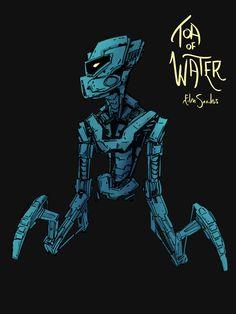 Illustration and fan art by story artist Eden Sanders. Bionicle Heroes, Lego Bionicle, Hate Cats, Legion Of Superheroes, Bio Art, Lego Design, Character Design Animation, Geek Art, Electronic Art