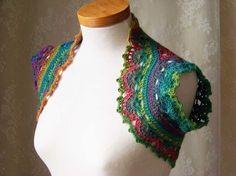 Rainbow shrug/vest