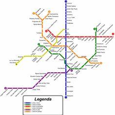 Sao Paulo Metro Subway map