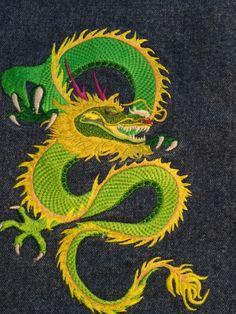 Stickerei auf Rucksack Snake, Animals, Embroidery, Animales, Animaux, A Snake, Animal, Animais, Snakes