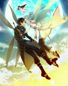 Asuna x Kirito and Yui, Sword Art Online