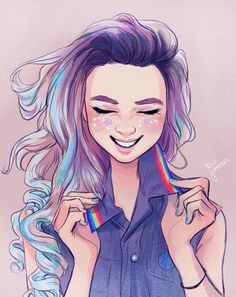 Character Design - April 2018 on Behance Art Gay, Lesbian Art, Character Design Challenge, Character Design Girl, Pretty Art, Cute Art, Art Lesbien, Animation, Male Character