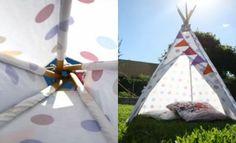 Make a teepee PLUS 6 easy cubby house ideas