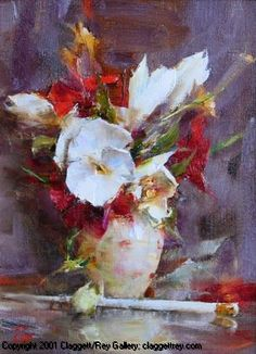 L. Robb - White and Red Bouquet