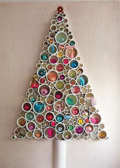 Love this Christmas tree made of PVC. Great DIY holiday project. Call 770-922-1434 and visit actionseptictankservice.com.