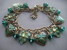 Shamrock Bracelet  Shamrock Earrings  by SilverTrumpetJewelry, $67.00