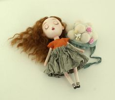 Paperclay & wooden dolls with linklist to doll tuts