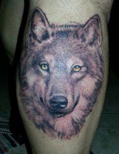 wolf tattoo 1st session