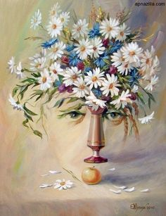 Optical-illusions Vase Of Flowers or Face Of a Lady
