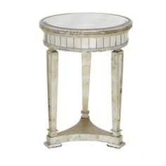 #zgallerie A simple end table to match the day bed, with just enough sparkle to add a touch of light to otherwise dark corners.