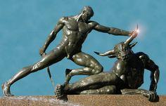 Minotaur. Detail of sculpture Archibald Fountain in Sydney's Hyde Park