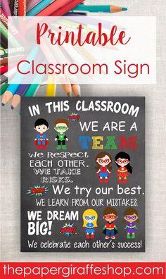 Superhero Classroom Rule Sign, Classroom Rules Sign, Superhero Classroom Sign, P. Superhero Classroom Rules, Superhero Classroom Decorations, Superhero Teacher, Classroom Signs, Art Classroom, Classroom Themes, School Classroom, Back To School Superhero, Poison Ivy Batman