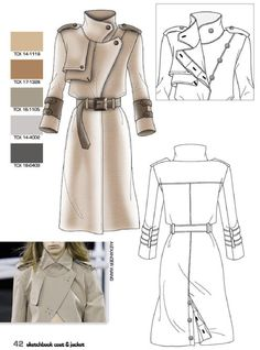 Sketchbook Coat & Jacket 15 In the new graphic clothing, which combines colour designs with traditional vector sketches, Sketchbook Coat & Jacket 15 presents the most significant trends in the world of women's outerwear, outlining the top models for. Fashion Portfolio Layout, Fashion Design Sketchbook, Fashion Design Drawings, Fashion Sketches, Portfolio Ideas, Mode Collage, Mode Mantel, Dress Design Sketches, Illustration Mode