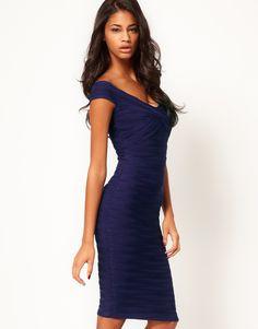 navy bodycon bridesmaid dress