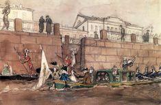 А.Бенуа «Карнавал на фонтанке» 1900-е