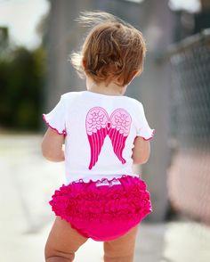 Ruffle Butts Angels Wings Baby Shirt $22.50 soo cute!