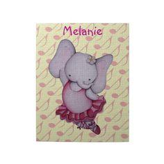 Little Dancing Ballerina Elephant Puzzle by SimonaMereuArt $15.85  #ballerina #ballet #elephant #cute #gift