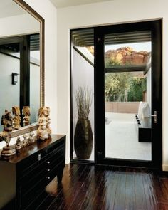 Ideas For Modern Glass Front Door Entrance Door Glass Inserts, Entry Doors With Glass, Glass Front Door, Glass Door, Exterior Doors With Glass, Glass Panels, Contemporary Front Doors, Modern Front Door, Modern Entryway