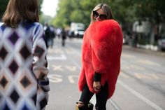 Bold, Colorful Fur Is the Perfect Remedy for a Dreary Winter Day Photos   W Magazine