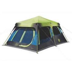 Coleman Dark Room Instant Cabin Tent with Rainfly, Green/Black/Teal (Renewed) coleman tent BY : Coleman - Trend Camping Fashion 2020 Camping Set Up, Best Tents For Camping, Cool Tents, Tent Camping, Alaska Camping, Camping Dishes, Camping Coffee, Tent Set Up, Pop Up Tent