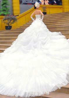 Vestido de Noiva de Tipo A de Gala de Banda de Barriga de Camaleão com Lace e Grânulos Brilhantes €149.99