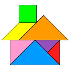 The solution for the Tangram puzzle #20 : House