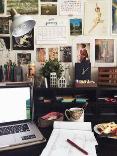 57 Cozy Diy Apartment Decor Ideas - nicolette news My New Room, My Room, Dorm Room, Room Art, Study Desk, Study Space, Desk Space, Workspace Desk, Desk Areas