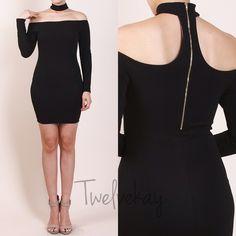 Black neck choker dress Size Small, Med, Lrg in stock-   Brand new comment size for listing Dresses Mini