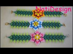 A beaded necklace. Beaded Bracelets Tutorial, Necklace Tutorial, Beaded Jewelry Patterns, Bracelet Patterns, Peyote Patterns, Beading Patterns, Crochet Flower Tutorial, How To Purl Knit, Beading Tutorials