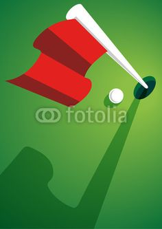 Golf ball with a golf flag Design with Adobe Illustrator by Eric Scherrer Golfball, Golf Flag, Flag Design, Adobe Illustrator, Letters, Illustration, Bunting Design, Letter, Illustrations