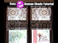DIY Roman Shades - YouTube