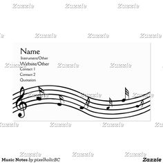 Music Notes Name Cards Business Card Ideas Visit