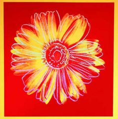 Daisy, red and yellow by Andy Worhol