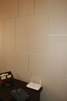 Painel WallWood Nude para recepçao escritorio de arquitetura