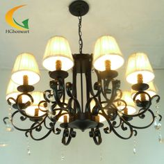 274.77$  Buy now - http://aliodp.shopchina.info/go.php?t=32510333067 - 10 lights chandelier crystal chandelier restaurant lamps bedroom light living room Continental Antique iron chandelier 274.77$ #bestbuy