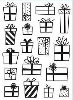 Christmas Present Drawing, Christmas Drawing, Christmas Art, Xmas, White Christmas, Christmas Presents, Doodle Drawings, Doodle Art, Illustration Noel