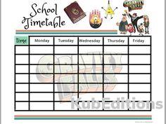 GRAVITY FALLS timetable School / Printable School timetable / Ready to print planner / Printable timetable / School planner timetable Printable Planner, Printables, School Timetable, School Planner, Page Design, Gravity Falls, Physics, Bearded Dragon, Etsy