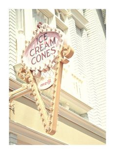 Ice Cream Cone Sign