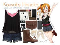 """Kousaka Honoka [Love live! School Idol Prject]"" by ibuperisesat on Polyvore featuring Juicy Couture, Abercrombie & Fitch, River Island, Charlotte Russe, Accessorize, Warehouse, NARS Cosmetics, maurices, Fuji and CASSETTE"