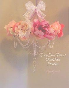 Fairyfloss Princess rose petal chandelier mobile by EverTheDream Nursery Room, Girl Nursery, Nursery Decor, Girls Bedroom, Bedroom Decor, Nursery Ideas, Room Ideas, Princess Nursery, Princess Room