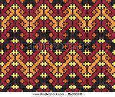 Ukrainian ethnic seamless ornament, #70, vector