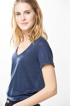 CAMISETA LINO » Camisetas » Mujer » Cortefiel
