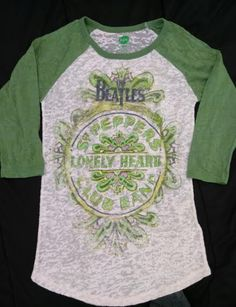 The Beatles Women's T-Shirt Small Petite Cream & Green | Clothing, Shoes & Accessories, Women's Clothing, T-Shirts | eBay!