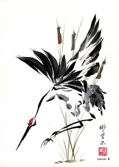 Spontaneous (Xie Yi) style Chinese brush painting by bgsearle.